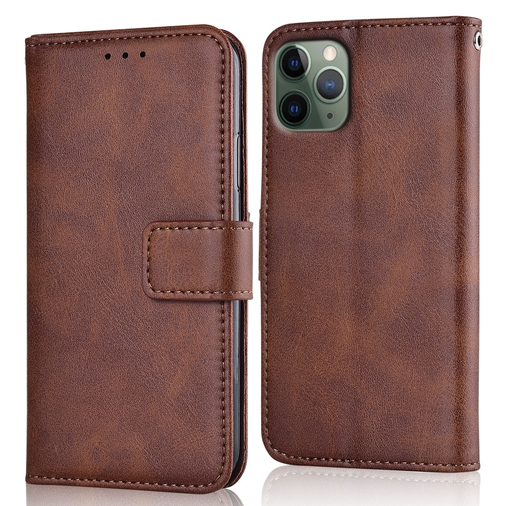 Funda billetera de cuero con tapa para iPhone 6 6S 7 8 Plus 11 Pro Max, funda trasera coque para iphone X XR XS MAX