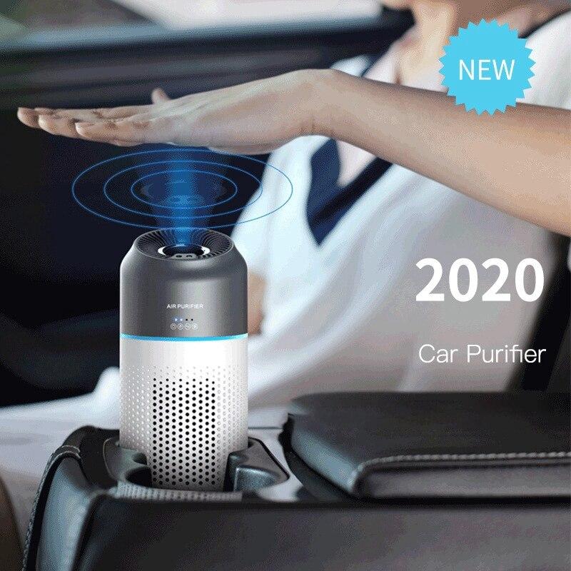Автомобильный очиститель воздуха, индукционный переключатель, портативный фильтр H13, очистители отрицательных ионов с запасным фильтром д...