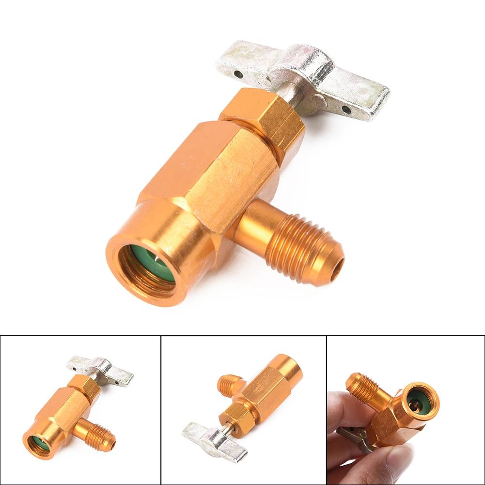 Сплав 1/4 SAE резьба адаптер R-134a хладагент может бутылка кран-открывашка клапан инструмент авто аксессуары для автомобиля Стайлинг автомобиля