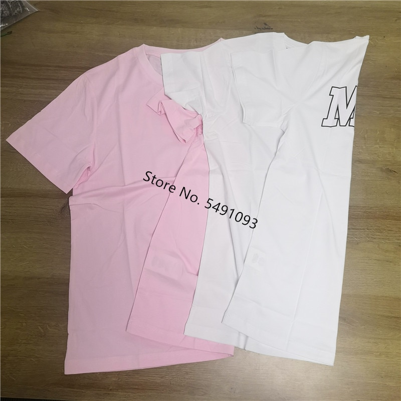 ¡Novedad de 2020! Camiseta con letras de verano para mujer, Camiseta 100% de algodón con cuello redondo, camiseta de manga corta para mujer