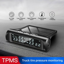 Car Truck Tire Pressure Monitoring System 14 Bar LCD Screen Lorry TPMS Solar Tire Pressure Real-Time