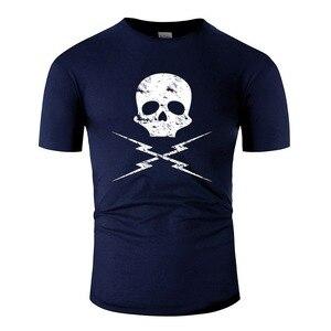 Custom Skull T-Shirt Man O-Neck Men Tshirt Big Size 3xl 4xl 5xl Anti-Wrinkle Hiphop Tops