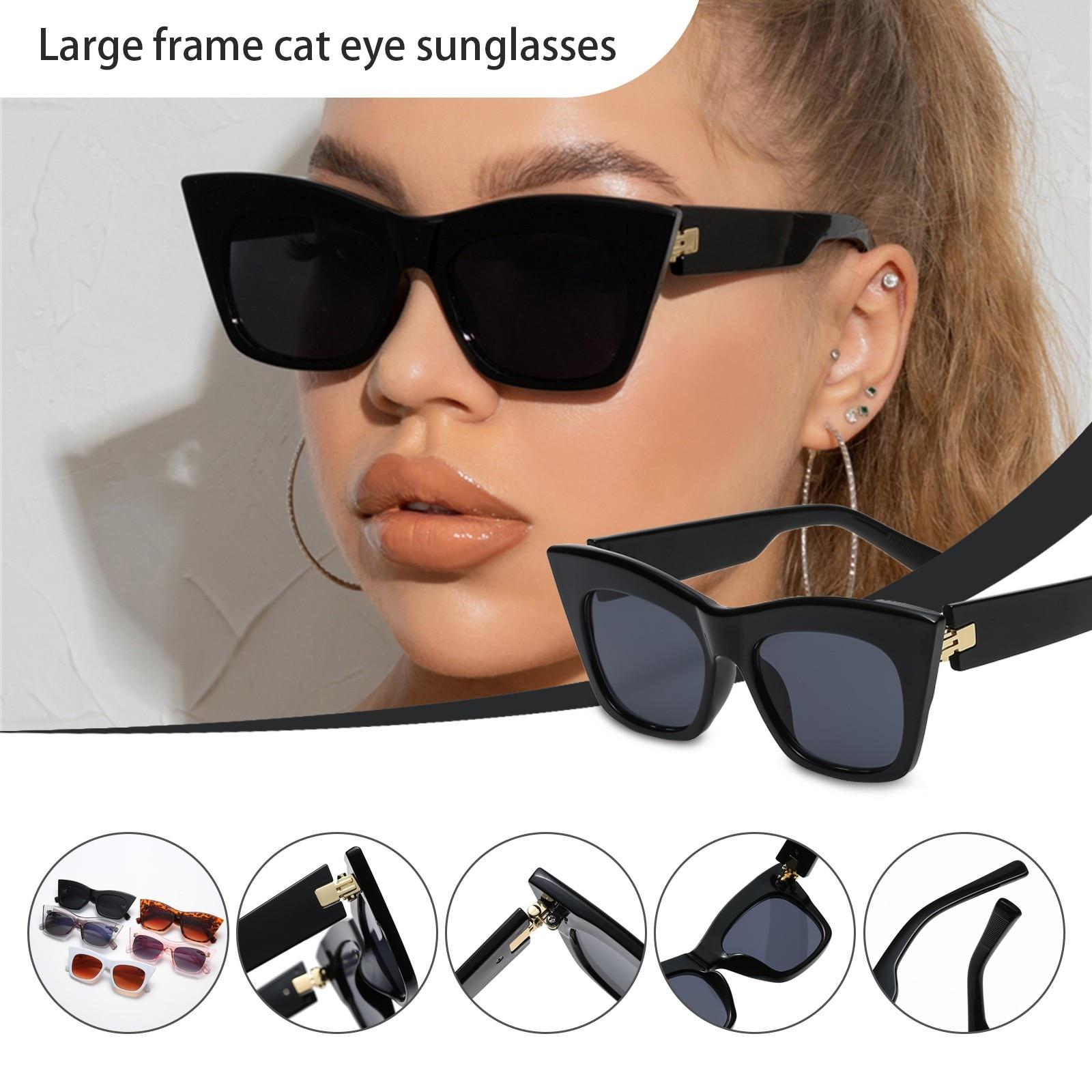 Oversized Square Sunglasses Women 2021 Luxury Brand Fashion Large Frame Rectangle Sun Glasses For Me