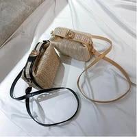 womens small crossbody bag fashion straw woven flap shoulder bag holiday beach bags new