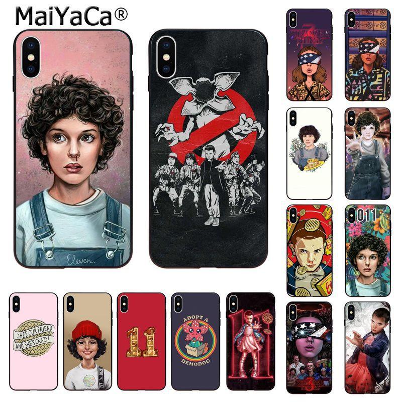 MaiYaCa Finn Wolfhard extraño las cosas recién llegado caja del teléfono celular para Apple iphone 11 pro 8 7 66S X XS X MAX 5S SE XR casos