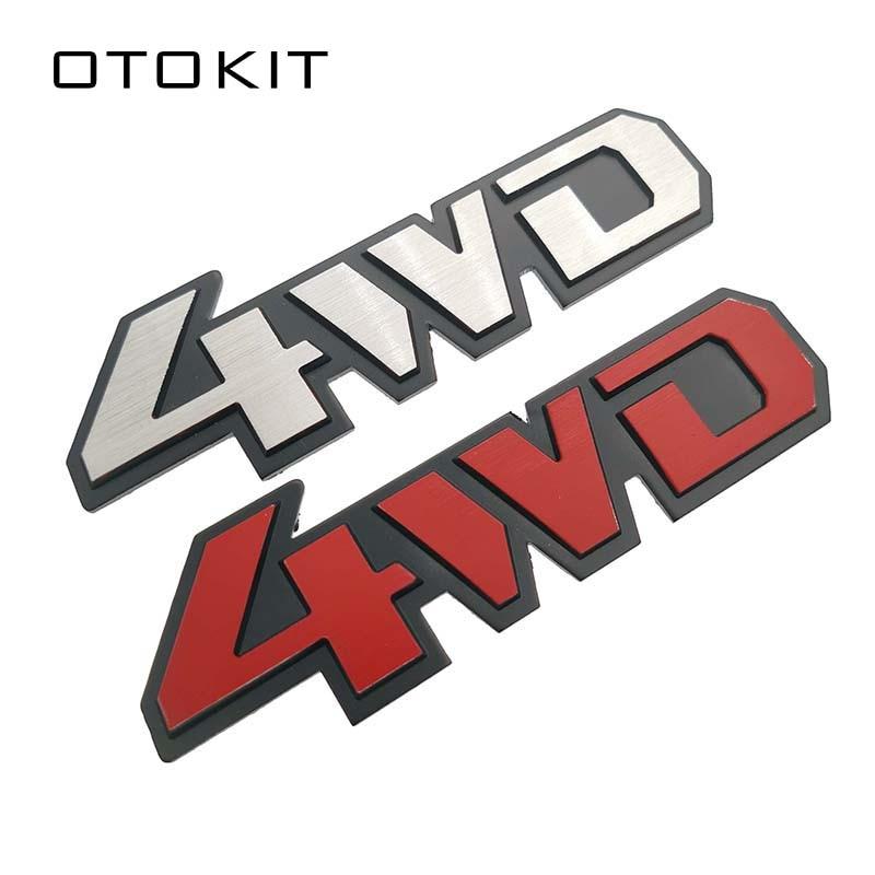 Etiqueta de Metal cromado 3D emblema 4WD 4X4 insignia calcomanía coche estilo para Honda CRV Accord Civic Suzuki Grand vitara Swift SX4 etiqueta engomada