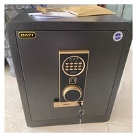 Home Anti-theft Coded Fingerprint Electronic Storage Cabinet Thicken Steel Plate Wall-in Strongbox Office Smart Safe Deposit Box