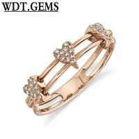10k yellow gold diamond heart ring 2 band statement fashion womens round natural