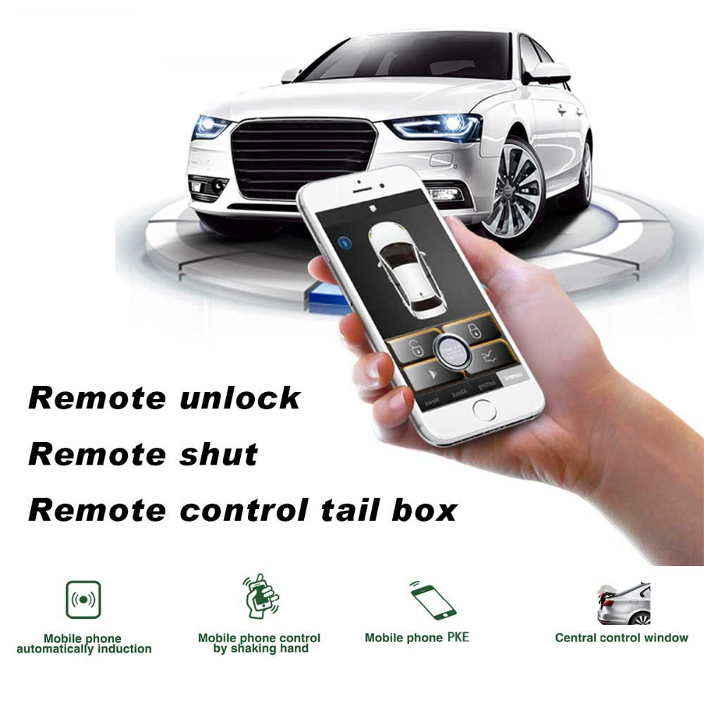 Universal keyless entry car alarm system Car Door Lock System by Mobile phone approaches the car to unlock, leaves automatically