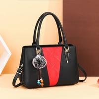 Famous Designer Messenger Bags Women Color matching Leather Handbags 2021 Luxury Ladies Hand Bags Purse Fashion Shoulder Bags