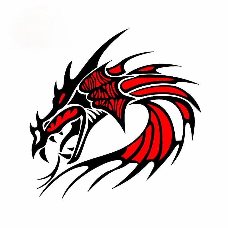 Cartoon Dragon Motorcycle Car Stickers Personality Graphics Bumper Rear Windshield Decal13*11cm
