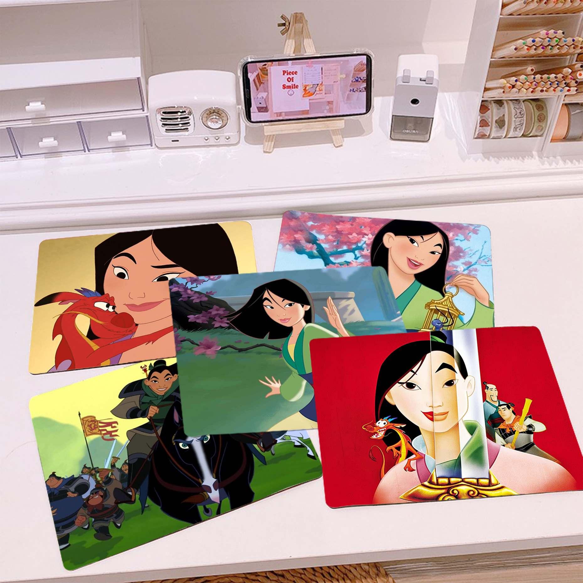 Новый дизайн, силиконовый коврик для мыши Disney Mulan, игровой Гладкий коврик для письма, настольные компьютеры, коврик для игровой мыши, коврик ...