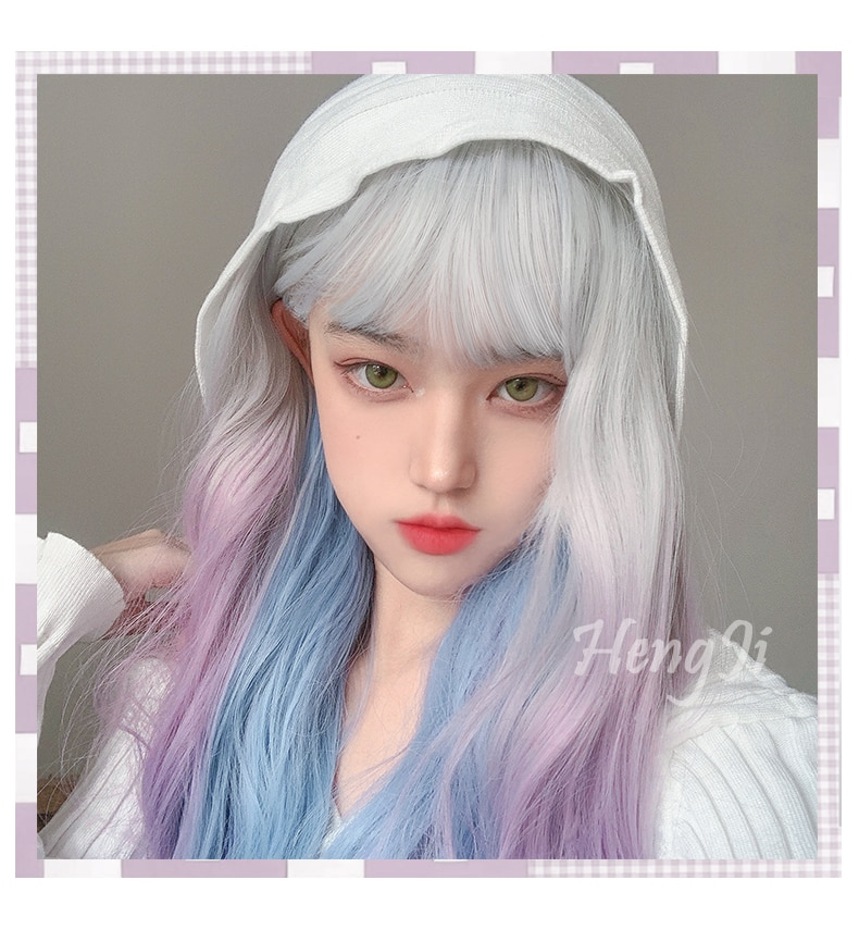 PAGEUP Long Straight Hair Liu Haibo Bo Cosplay Wig Lolita Wig Natural Black Light Pink Gold Women's Synthetic Wig