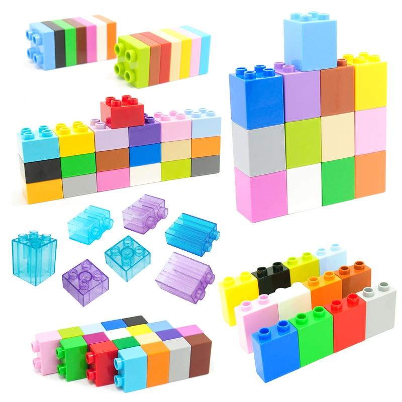 AliExpress - Colorful Bulk Bricks 2 4 Dots Square Mosaic Big Size Building Block Assembly Accessories Compatible bricks DIY Toys For Children