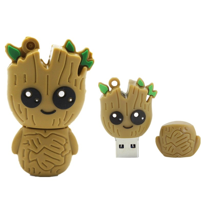 Cute Cartoon Groot Pen Drive Animated Usb Flash 2.0 Memory Card 4GB 8GB 16GB 32GB 64GB 128GB 256GB U Disk