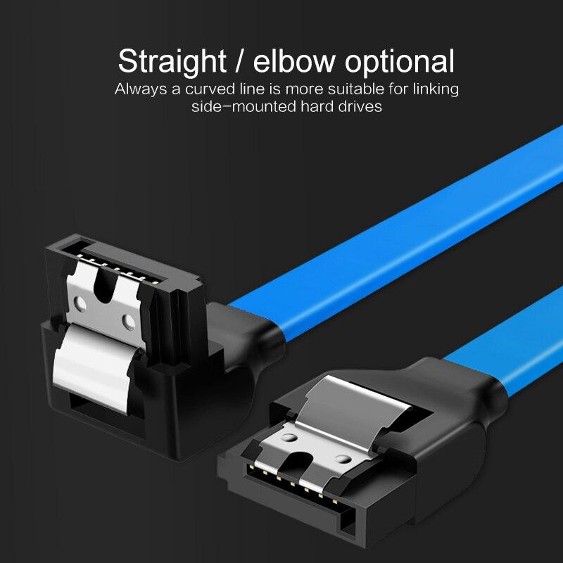 Cable SATA de 3,0 un disco duro SSD adaptador HDD de 40cm/50cm Cable recto de 90 grados Sata 3,0 para placa base Asus MSI Gigab