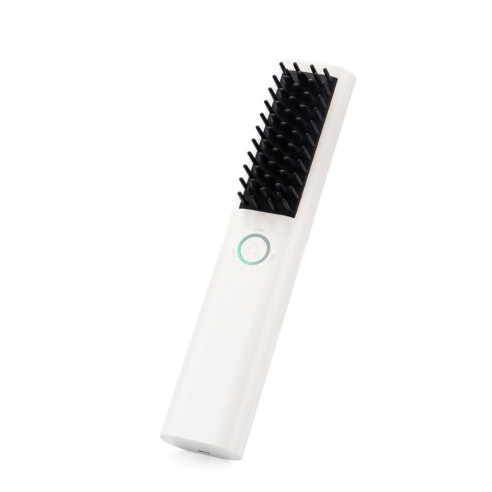 Ionic Brush Hair Straightener Professional Cordless Ceramic Heating Hair Comb Smooth Styling Hairdressing Salon For Hair Curler