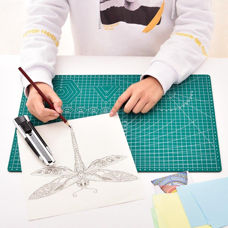 A4 placa de corte almofada de retalhos 30*22cm almofada de corte de retalhos ferramenta manual diy ferramenta de reparação automática dupla face escultura