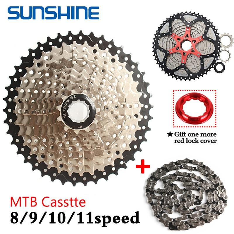Sol/8/9/10/11 Speed Cassette MTB 11-40/42/46/50T ciclismo volante piñón 8-11S KMC cadena bicicleta de montaña piezas