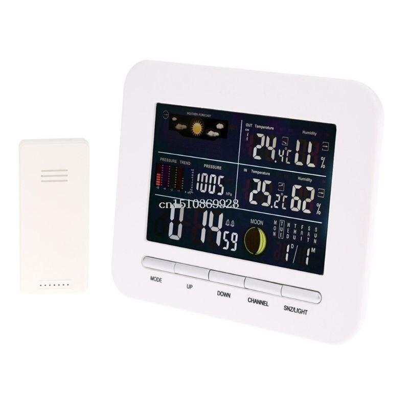 Barómetro de reloj de Estación Meteorológica Inalámbrica multifunción estándar europeo 448A