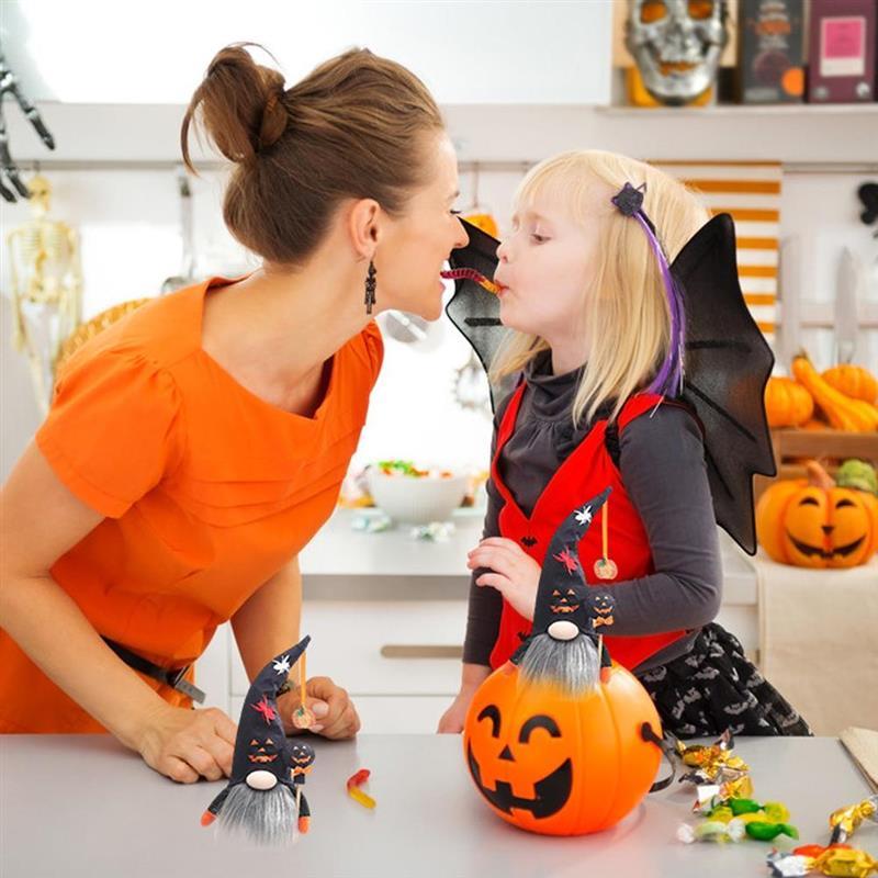 Muñeco sin rostro de Halloween con luz, decoración de enano, elfo de...