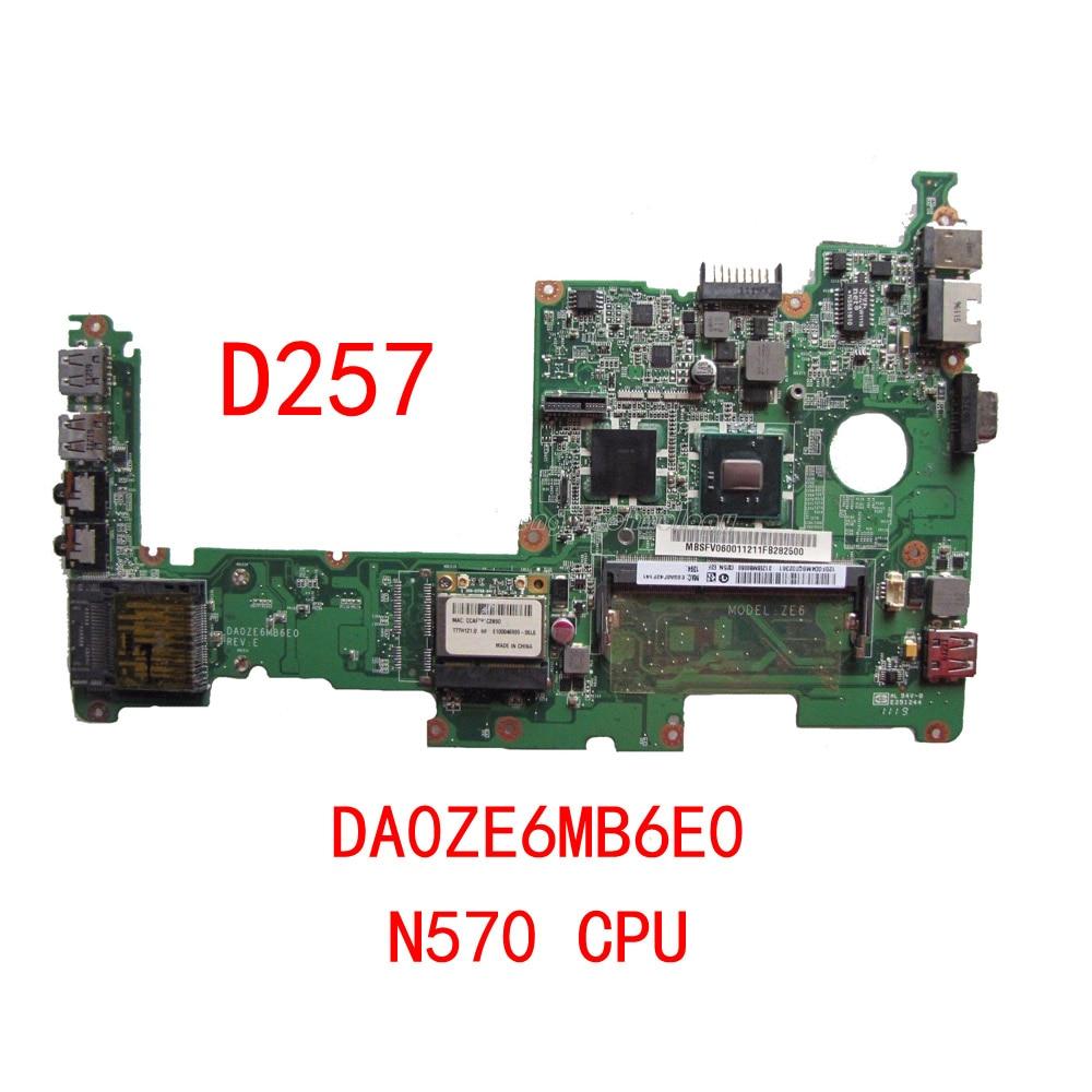 HOLYTIME laptop Motherboard For Acer D257 MBSFV06002 MB.SFV06.002 DA0ZE6MB6E0 N570 CPU DDR3 100% fully tested