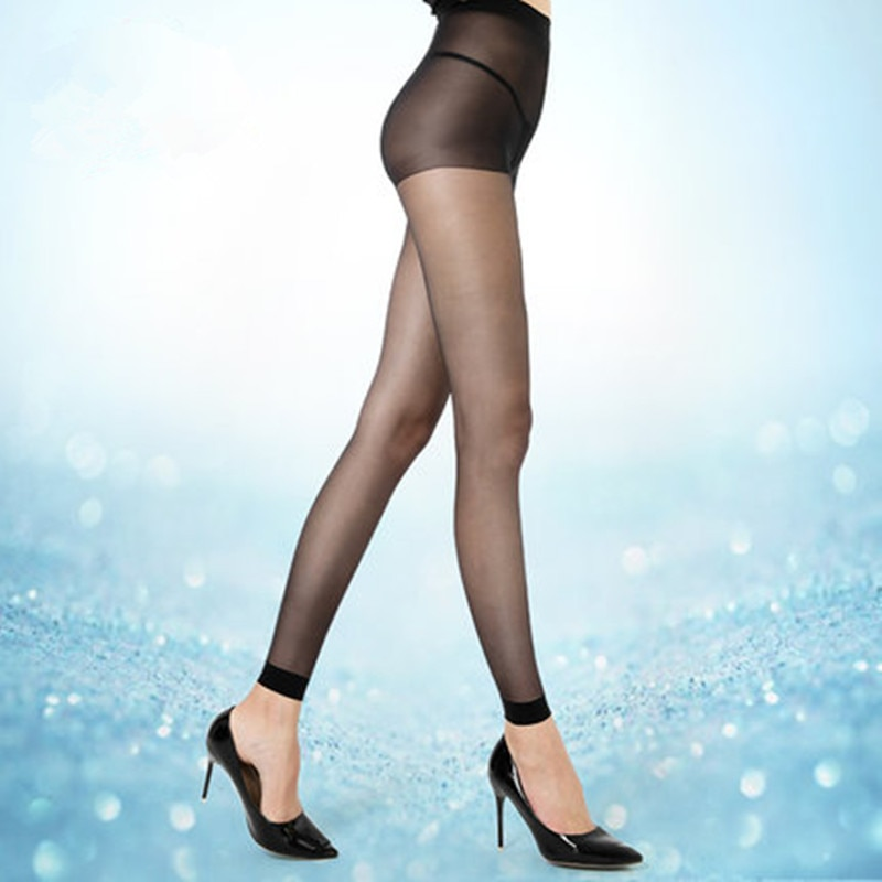 Sexy verão meias finas meias ninessub alta elástica evitar gancho sem costura meias medias menina calcinha
