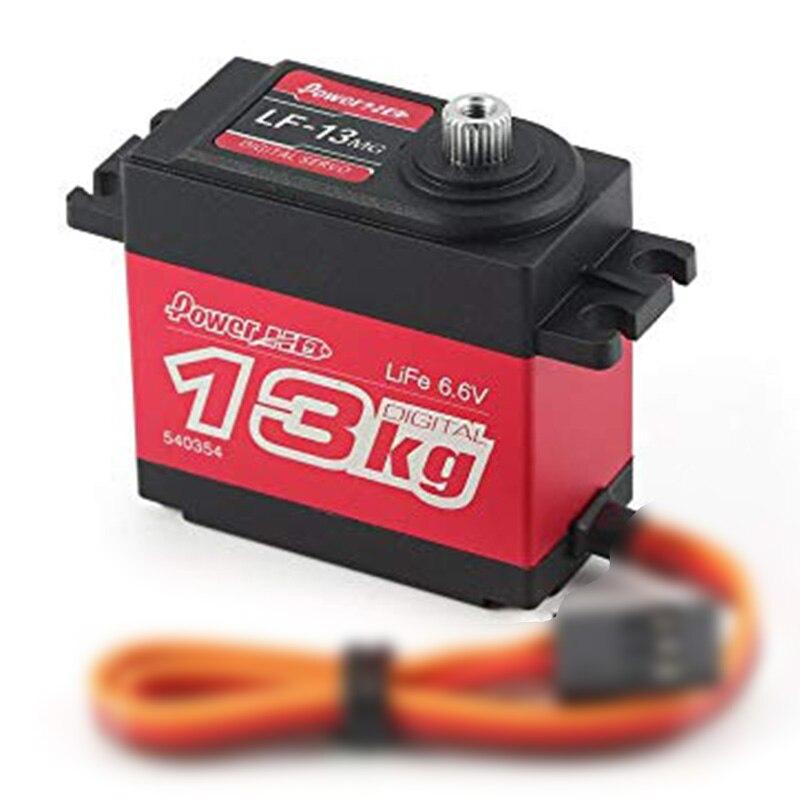 Engranaje Servo de Metal para coche de 13KG con torsión de alta velocidad Digital estándar Power HD LF-13MG para coches de dirección 110 18 RC