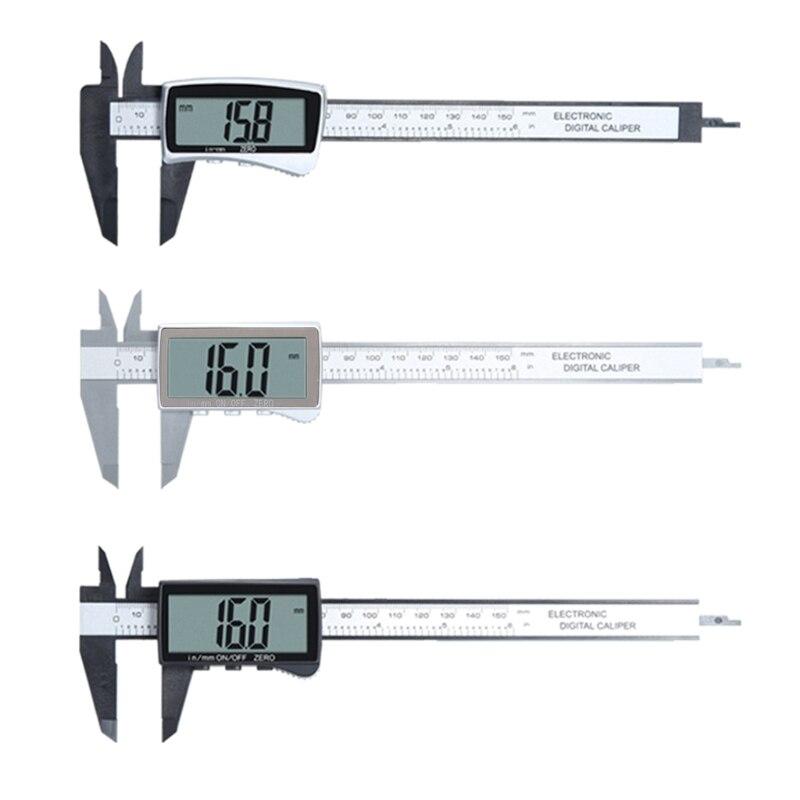 Electronic Digital Display Vernier Caliper Inch/Metric Conversion 6Inch 0-150mm Full Screen Caliper Measurement Tool