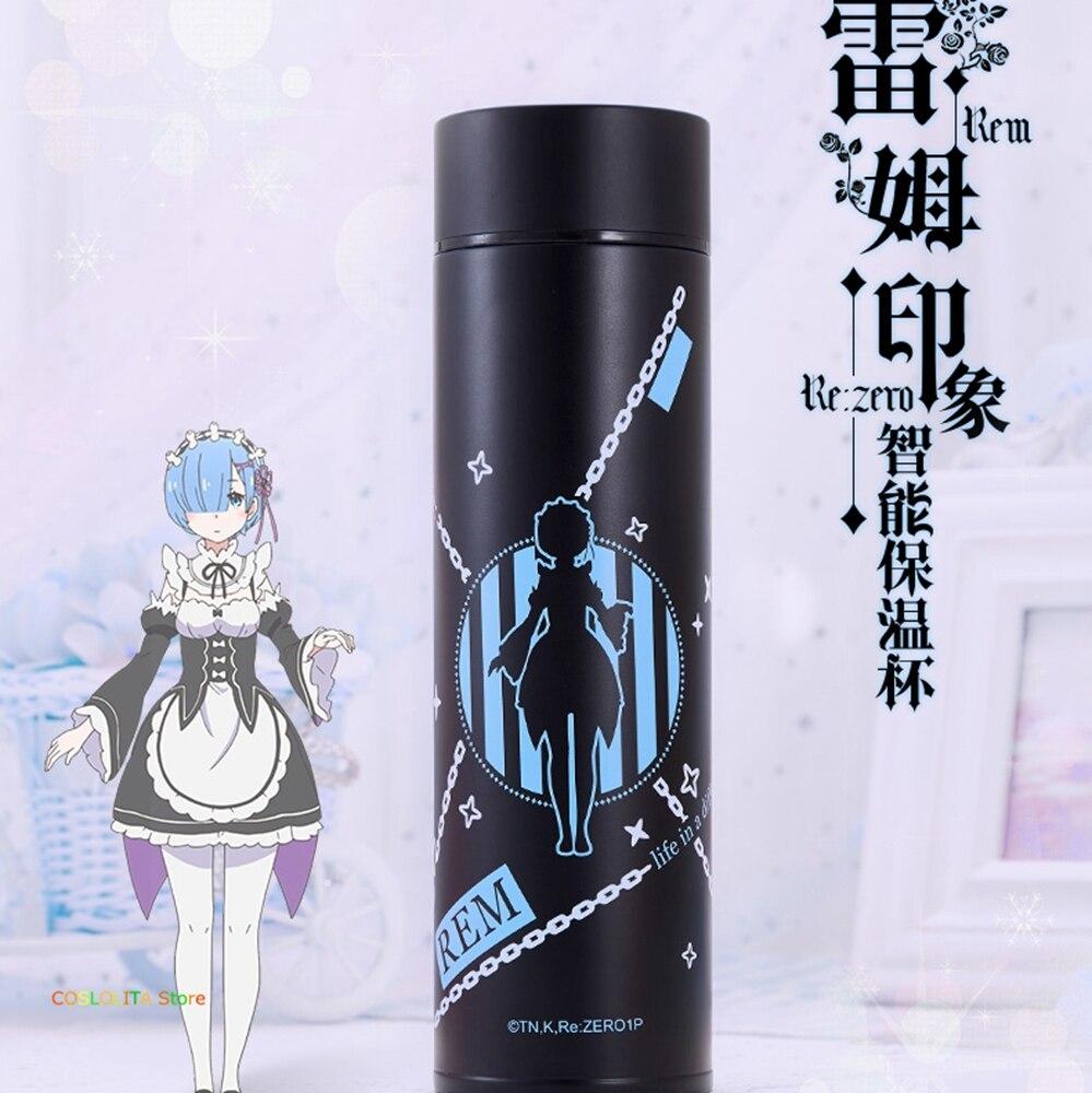 Diferente de Zero Copo de Água Presentes de Aniversário Re: a Vida em um Anime Mundo Vácuo Masculino Feminino Estudante Beber Garrafa Térmica Rem Ram
