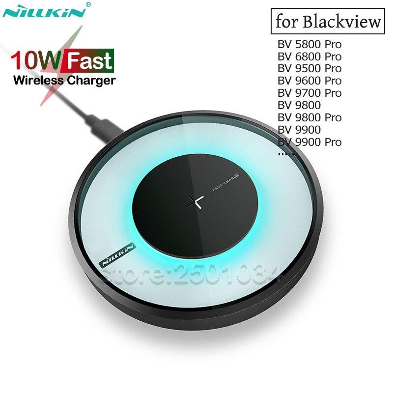 Nillkin 10 w qi rápido carregamento sem fio para blackview bv5800 bv6800 bv9600 bv9700 bv9800 bv9900 pro plus carregador sem fio