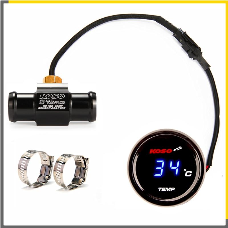 Medidor de temperatura de agua redondo KOSO Universal para motocicleta con Sensor para Yamaha Xmax 125 250 300 Nmax Y15ZR LC135