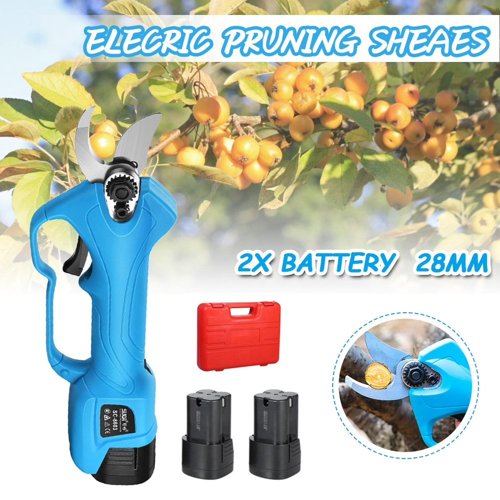 Electric Pruning Shears Cordless Pruning Shears Fruit Tree Branch Trimmer Cutter Scissors Garden Power Tool enlarge