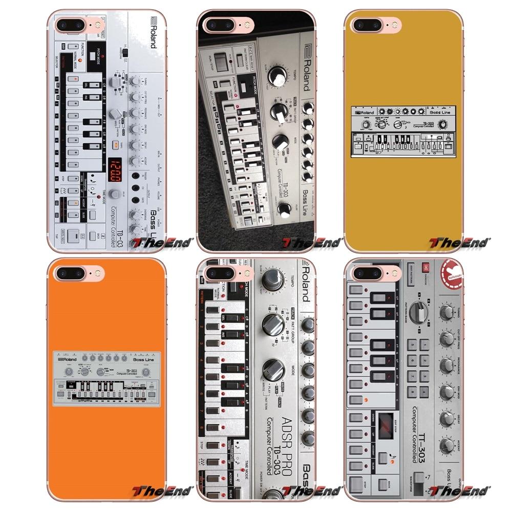 Roland TB303 oferta-9292 música teléfono caso para iPhone 4X4 4S 5 5S 5C SE 6 6 S 7 8 Plus, Samsung Galaxy J1 J3 J5 J7 A3 A5 2016, 2017