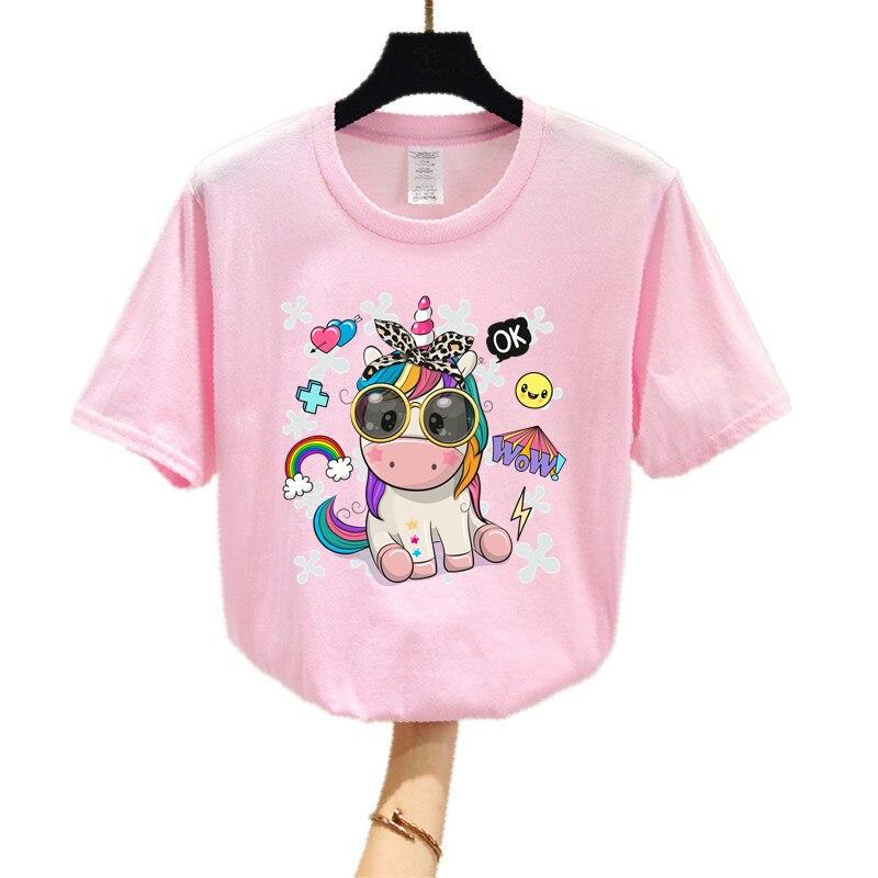 2021 Summer New Women's T-Shirt Unicorn 3D Women's T-Shirt Short Sleeve T-Shirt Cascasual Top Clothing