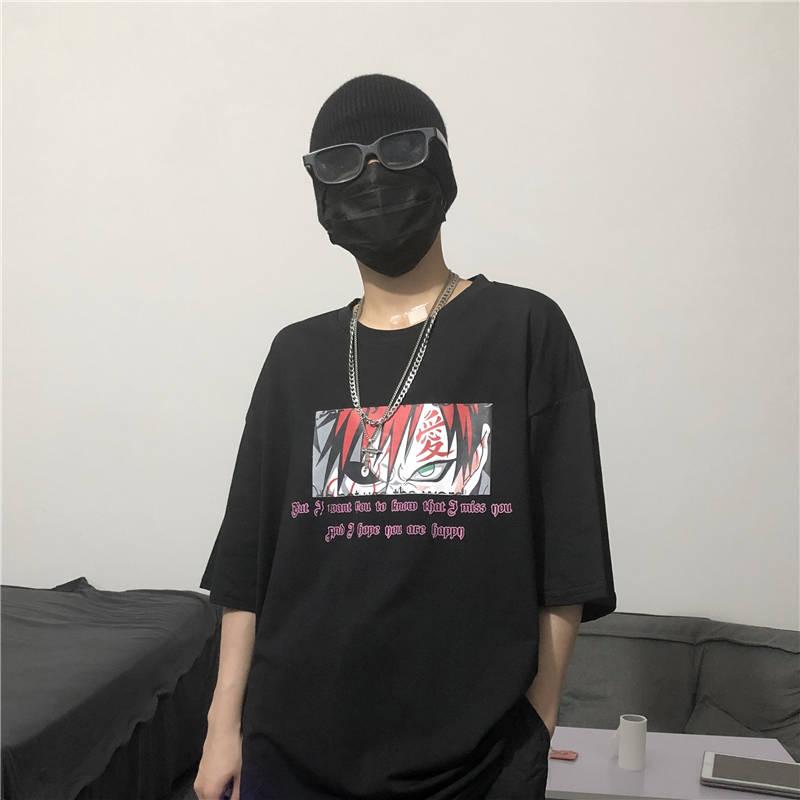 Camiseta de Naruto de Japón de 2020, camiseta informal holgada guay para hombres, camisetas Punk de moda para hombres, camisetas de dibujos animados de verano de amina para hombres