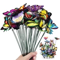 10pcs butterflies garden yard planter colorful whimsical butterfly stakes decoracion outdoor decor flower pots home decoration