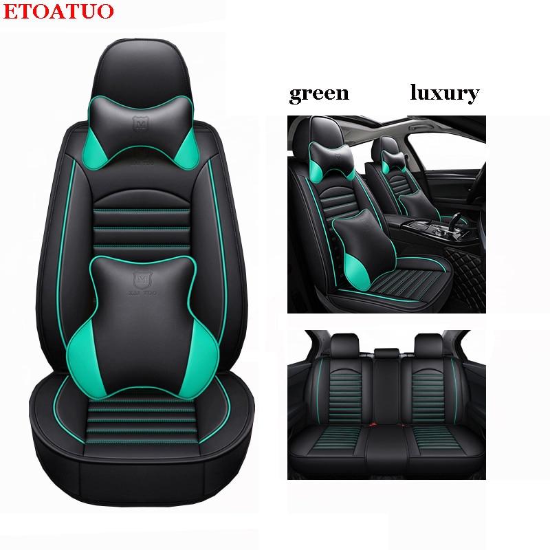 ETOATUO Universal asiento de cuero pu fundas para Chery Ai Ruize A3 Tiggo X1 QQ A5 E3 V5 QQ3 QQ6 QQme A5 BSG E5 auto Accesorios
