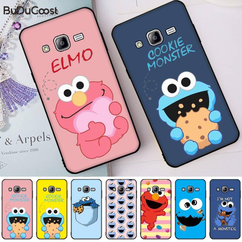 Funda de teléfono de dibujos animados de sésamo galleta monstruo Elmo para Samsung Galaxy J7 J6 J8 J4 J4Plus J7 DUO J7NEO J2 J7 Prime