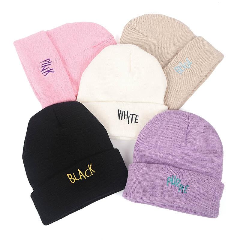 2020 Модная вязаная шапка для женщин и девочек, теплая Осенняя Повседневная Эластичная шапка, женская шапка, зимние аксессуары, шапки унисекс,...