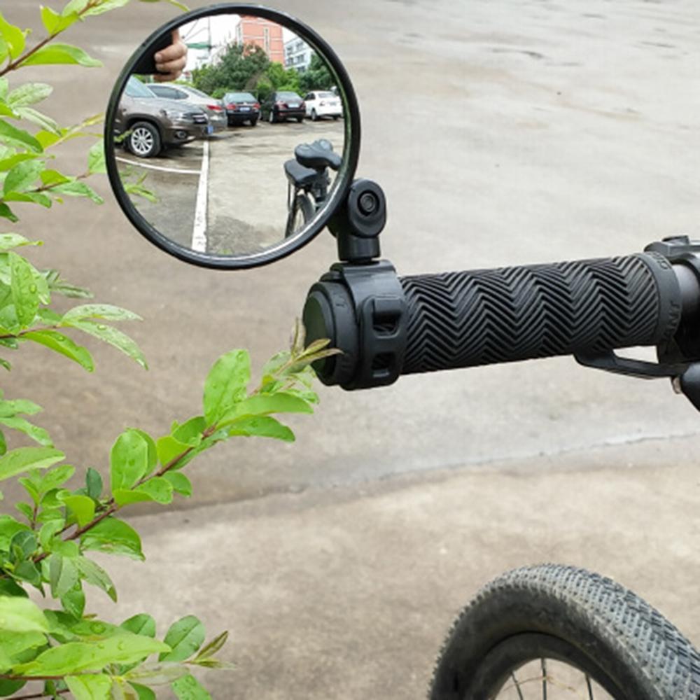 Велосипедные зеркала заднего вида для руля Велоспорт зеркало заднего вида MTB велосипед Силиконовая ручка зеркало заднего вида