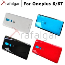 Batterij Cover Oneplus 6 6T Terug Glas Cover Een Plus 6 Achterruit Deur Case Back Panel Oneplus 6T Terug Glas Cover + Camera Lens