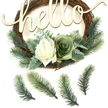 10Pcs Gradient Pine Needles Artificial Flowers Wedding Christmas Decoration DIY Handcraft Xmas Wreath Gift Fake Plants Scrapbook