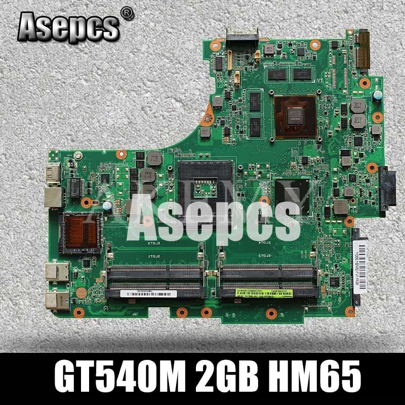 Asepcs N53SN placa base de Computadora Portátil para For Asus N53SN N53SM N53SV N53S N53 prueba placa base original de GT540M 2GB HM65