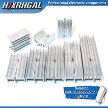 1 pièces radiateur en aluminium radiateur 15*10*16/20/22/25/30/40/50mm avec aiguille hjxrhgal pour Transistors TO220 blanc HJXRHGAL
