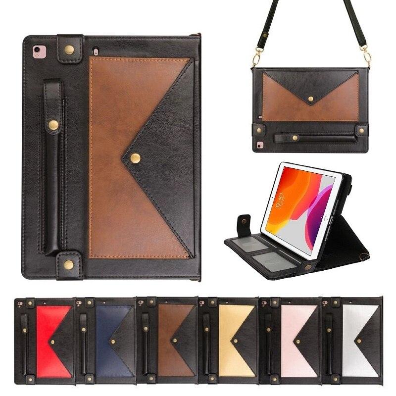 Funda de cuero para tableta para iPad Pro 9,7 10,2 10,5, funda con correa para hombro, bolsa para iPad Mini 5 4 3 2 1 Air 3 2, funda EEMIA