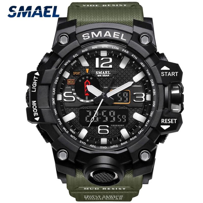 SMAEL Brand Fashion Men Sports Watches Men Analog Quartz Clock Military Watch Male Watch Men's 1545