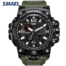 SMAEL Men Sports Watches 2021 Fashion Men Analog Quartz Clock Military Watch Male Watch Men's 1545 r