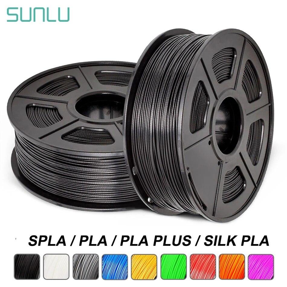 SUNLU PLA زائد خيوط طابعة ثلاثية الأبعاد PLA 1.75 مللي متر قوس قزح 1 كجم 2.2LBS لكل لفة أكثر صلابة غير سامة سريع الشحن الحرير