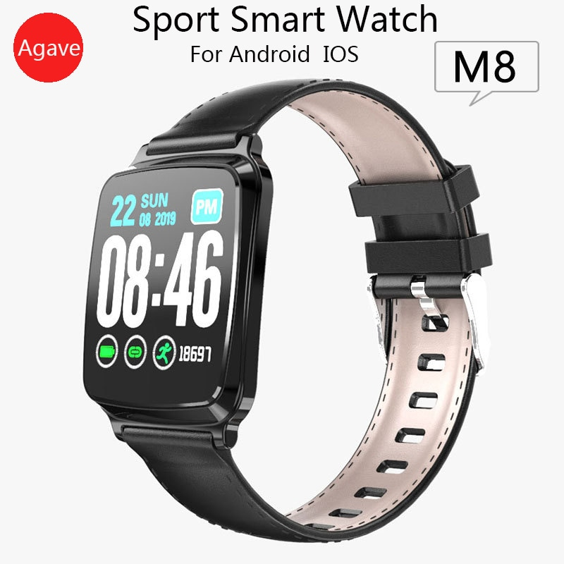 New M8 Smart Watch Women/men's Watches Sport Fitness Smart Wristband HD IPS LCD Screen 2.5D Tempered Glass For Android IOS